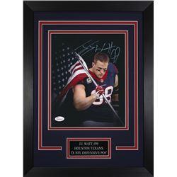 J. J. Watt Signed Texans 14x18.5 Custom Framed Photo Display (JSA COA)
