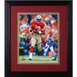 Jerry Rice Signed 49ers 13.75x15.5 Custom Framed Photo Display (Beckett COA)