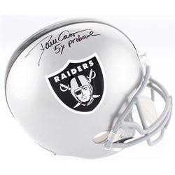 "Dave Casper Signed Raiders Full-Size Helmet Inscribed ""5x Pro Bowl"" (Beckett COA)"