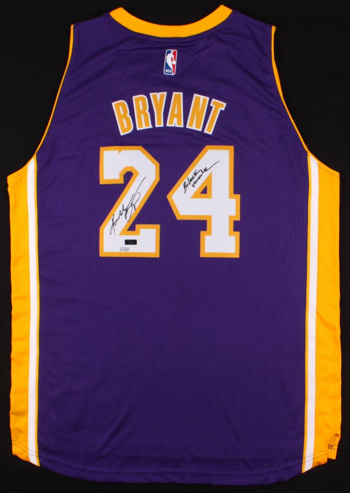 c749ff17e Image 1   Kobe Bryant Signed LE Lakers Adidas Jersey Inscribed