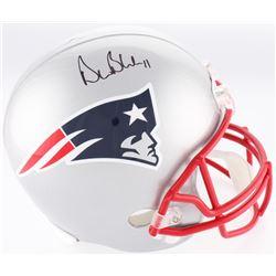 Drew Bledsoe Signed Patriots Full-Size Helmet (Beckett COA)