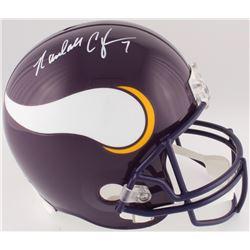 Randall Cunningham Signed Vikings Full-Size Helmet (JSA COA)