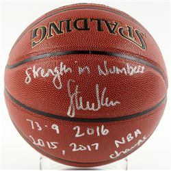 """Steve Kerr Signed Basketball Inscribed """"Strength In Numbers"""", """"73-9 2016""""  """"2015, 2017 NBA Champs"""" ("""