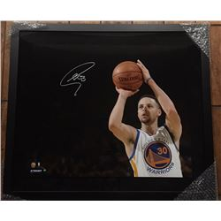 Stephen Curry Signed Warriors 20x24 Custom Framed Limited Edition Photo (Steiner COA)