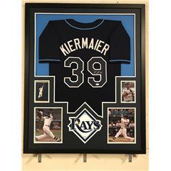 Kevin Kiermaier Signed Rays 34x42 Custom Framed Jersey (JSA COA)