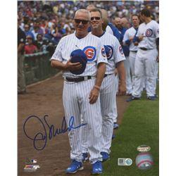 Joe Maddon Signed Cubs 8x10 Photo (Schwartz COA  MLB Hologram)