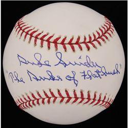 """Duke Snider Signed Dodgers OML Baseball Inscribed """"Duke of the Flatbush"""" (Steiner COA)"""