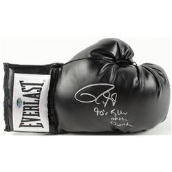 """Roy Jones Jr. Signed Everlast Boxing Glove Inscribed """"90's Fighter of the Decade"""" (Schwartz COA)"""