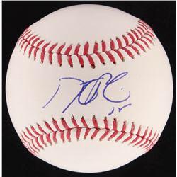 Dustin Pedroia Signed Red Sox OML Baseball (Steiner COA)