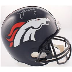 John Elway Signed Broncos Full-Size Helmet (JSA COA  Elway Hologram)