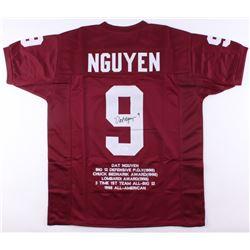 Dat Nguyen Signed Texas AM Aggies Career Highlight Stat Jersey (JSA COA)
