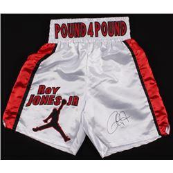 Roy Jones Jr. Signed Boxing Trunks (JSA COA)