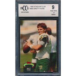 1992 Stadium Club #683 Brett Favre (BCCG 9)