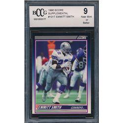 1990 Score Supplemental #101T Emmitt Smith RC (BCCG 9)