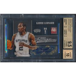 2012-13 Elite Rookie Inscriptions #43 Kawhi Leonard RC (BGS 9.5)