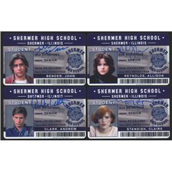 "Lot of (4) ""The Breakfast Club"" Shermer High School ID Cards Signed by (4) with Judd Nelson, Molly R"