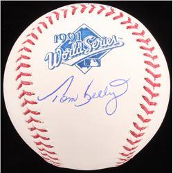 Tom Kelly Signed 1991 World Series Baseball (Schwartz COA)