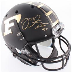 Mike Alstott Signed Purdue Boilermakers Custom Matte Black Full-Size Helmet (Radtke COA)