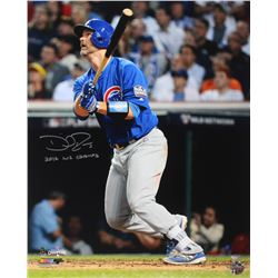 """David Ross Signed Cubs 16x20 Photo Inscribed """"2016 WS Champs"""" (Schwartz Sports COA)"""