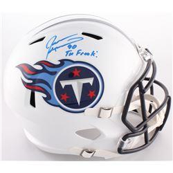 """Jevon Kearse Signed Titans Full-Size Speed Helmet Inscribed """"The Freak!"""" (Radtlke COA)"""