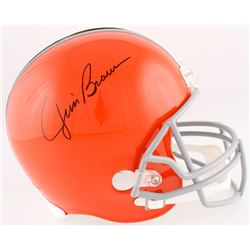 Jim Brown Signed Browns Full-Size Helmet (Schwartz COA)
