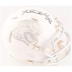 Fred Taylor Signed Jaguars Custom Matte White ICE Mini Speed Helmet (Radtke COA)