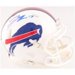 Josh Allen Signed Bills Mini Speed Helmet (Radtke COA)