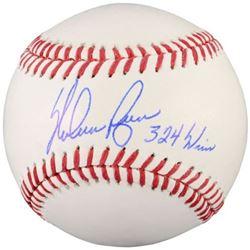 """Nolan Ryan Signed OML Baseball Inscribed """"324 Wins"""" (Fanatics Hologram)"""