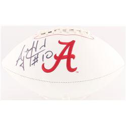 AJ McCarron Signed Alabama Crimson Tide Logo Football (Radtke Hologram)