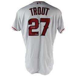 """Mike Trout Signed LE Angels Jersey Inscribed """"14,16 AL MVP"""" (MLB Hologram  Steiner COA)"""