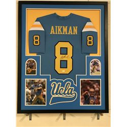 Troy Aikman Signed UCLA Bruins 34x42 Custom Framed Jersey Display (JSA COA)