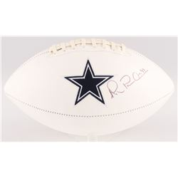 Michael Irvin Signed Cowboys Logo Football (JSA COA)