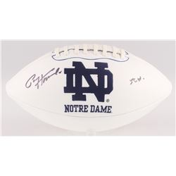 Paul Hornung Signed Notre Dame Fighting Irish Logo Football with Inscription (JSA COA)