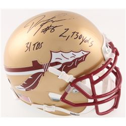 "Devonta Freeman Signed Florida State Seminoles Mini Helmet Inscribed ""2730 yds""  ""31 TDs"" (Radtke Ho"