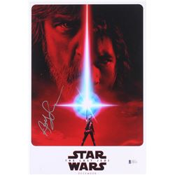 "Andy Serkis Signed ""Star Wars: The Last Jedi"" 9.5x13 Poster (Beckett COA)"