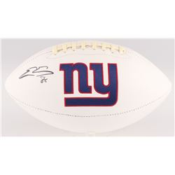 Evan Engram Signed Giants Logo Football (JSA COA)