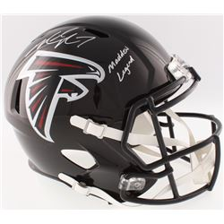 "Michael Vick Signed Falcons Full-Size Speed Helmet Inscribed ""Madden Legend"" (JSA COA)"