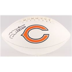 Mike Ditka Signed Bears Logo Football (Beckett COA)