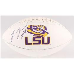 Leonard Fournette Signed LSU Tigers Logo Football (JSA COA)