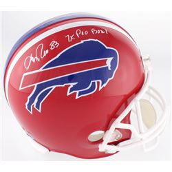 "Andre Reed Signed Bills Full-Size Throwback Helmet Inscribed ""7x Pro Bowl"" (DA COA)"