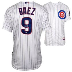 Javier Baez Signed Cubs Majestic Jersey (Fanatics Hologram  MLB Hologram)