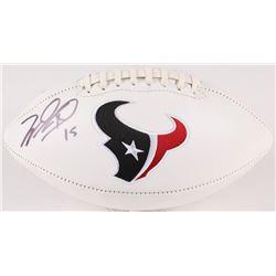 Will Fuller Signed Texans Logo Football (JSA COA)