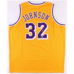 Magic Johnson Signed Lakers Jersey (Beckett COA)