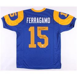 "Vince Ferragamo Signed Rams Throwback Jersey Inscribed ""79 NFC Champs"" (JSA COA)"