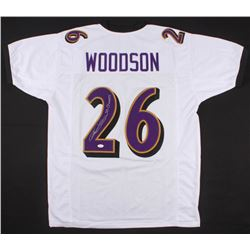 "Rod Woodson Signed Ravens Jersey Inscribed ""SB Champs"" (JSA COA)"