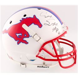Courtland Sutton Signed Southern Methodist Mustangs Full-Size Helmet (Radtke COA)