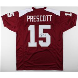 Dak Prescott Signed Mississippi State Bulldogs Jersey (JSA COA)