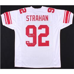 "Michael Strahan Signed Giants Jersey Inscribed ""SB XLII Champion"" (JSA COA)"