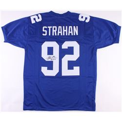 "Michael Strahan Signed Giants Jersey Inscribed ""HOF 2014"" (JSA COA)"