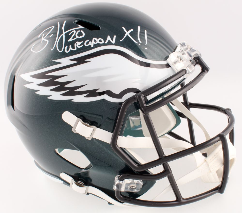 3556815a276 Image 1 : Brian Dawkins Signed Eagles Full-Size Speed Helmet Inscribed